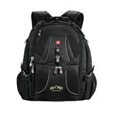 Wenger Swiss Army Mega Black Compu Backpack-Calpoly Mustangs Primary Mark