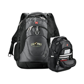 Wenger Swiss Army Tech Charcoal Compu Backpack-Calpoly Mustangs Primary Mark