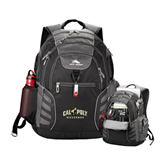 High Sierra Big Wig Black Compu Backpack-Calpoly Mustangs Primary Mark