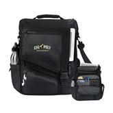 Momentum Black Computer Messenger Bag-Calpoly Mustangs Primary Mark