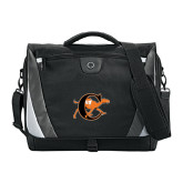 Slope Black/Grey Compu Messenger Bag-Campbell Official Logo