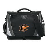 Slope Black/Grey Compu Messenger Bag-Campbell Official Logo