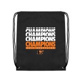 Black Drawstring Backpack-2017 Southern Conference Wrestling