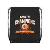Black Drawstring Backpack-2017 Big South Champions Womens Golf