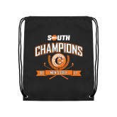 Black Drawstring Backpack-2017 Big South Champions Mens Golf