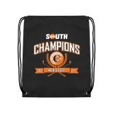 Nylon Black Drawstring Backpack-2017 Big South Champions Mens Golf