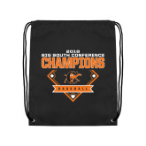Black Drawstring Backpack-2018 Baseball Champions