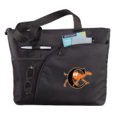 Excel Black Sport Utility Tote-Campbell Official Logo