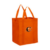 Non Woven Orange Grocery Tote-Campbell Official Logo