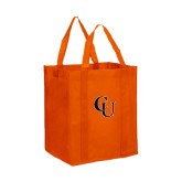 Non Woven Orange Grocery Tote-CU