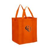 Non Woven Orange Grocery Tote-CU