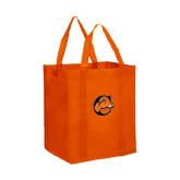 Non Woven Orange Grocery Tote-C w/ Camel Head
