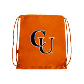Orange Drawstring Backpack-CU