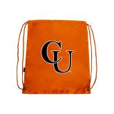 Nylon Orange Drawstring Backpack-CU