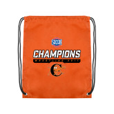 Orange Drawstring Backpack-2017 Southern Conference Wrestling