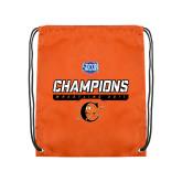Orange Drawstring Backpack-2017 Southern Conference Wrestling