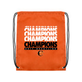 Nylon Orange Drawstring Backpack-2017 Southern Conference Wrestling