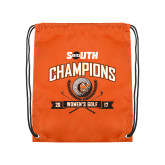 Orange Drawstring Backpack-2017 Big South Champions Womens Golf
