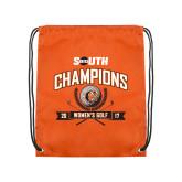 Orange Drawstring Backpack-2017 Big South Champions Womens Golf