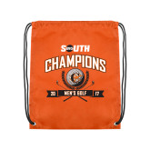 Orange Drawstring Backpack-2017 Big South Champions Mens Golf