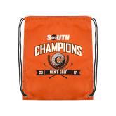 Nylon Orange Drawstring Backpack-2017 Big South Champions Mens Golf