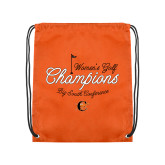 Orange Drawstring Backpack-2018 Womens Golf Champions