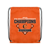 Orange Drawstring Backpack-2018 Baseball Champions