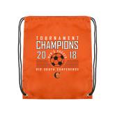 Orange Drawstring Backpack-2018 Mens Soccer Big South Champions