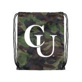 Nylon Camo Drawstring Backpack-CU