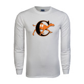 White Long Sleeve T Shirt-Campbell Official Logo