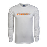 White Long Sleeve T Shirt-Campbell Flat