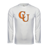 Performance White Longsleeve Shirt-CU