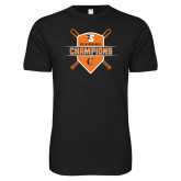Next Level SoftStyle Black T Shirt-2018 Baseball Champions