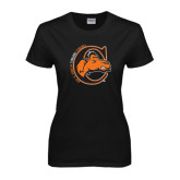Ladies Black T Shirt-C w/ Frankenstein Camel Head Halloween