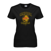 Ladies Black T Shirt-Campbell Camels Mummy Halloween