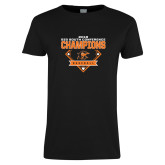 Ladies Black T Shirt-2018 Baseball Champions
