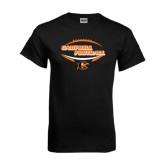 Black T Shirt-Inside Football Ball Design