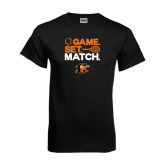 Black T Shirt-Game Set Match Tennis Design