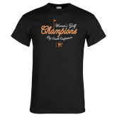 Black T Shirt-2018 Womens Golf Champions