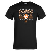 Black T Shirt-2018 Mens Soccer Big South Champions
