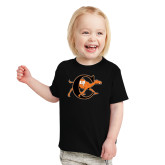 Toddler Black T Shirt-Campbell Official Logo