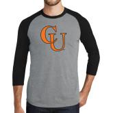 Grey/Black Tri Blend Baseball Raglan-CU