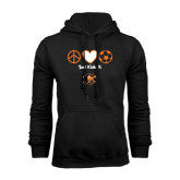 Black Fleece Hoodie-Just Kick It Soccer Design