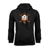 Black Fleece Hoodie-Golf Crossed Sticks Designs