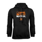 Black Fleece Hoodie-Game Set Match Tennis Design