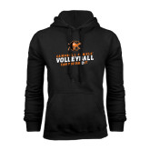 Black Fleece Hoodie-Can You Dig It - Volleyball Design