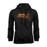 Black Fleece Hoodie-Track and Field Runner Design