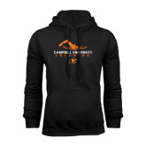 Black Fleece Hoodie-Swimming Design