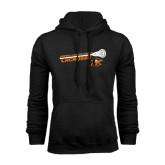 Black Fleece Hoodie-Lacrosse Stick Rise Design