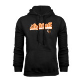 Black Fleece Hoodie-Softball Script w/ Bat Design